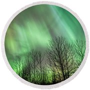 Spectacular Lights Round Beach Towel