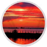 Spectacular Sunset Round Beach Towel