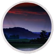 Spectral Crossing Round Beach Towel