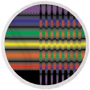 Spectral Integration Round Beach Towel by Kevin McLaughlin