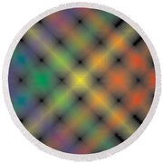 Spectral Shimmer Weave Round Beach Towel by Kevin McLaughlin