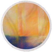 Spectral Sunset Round Beach Towel