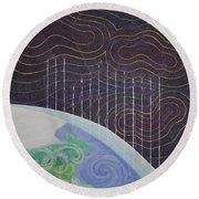 Spectrum Earth Spacescape Round Beach Towel