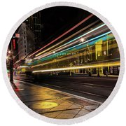Speed Of Light Round Beach Towel