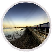 Speeding Thro Starcross Round Beach Towel by Rob Hawkins