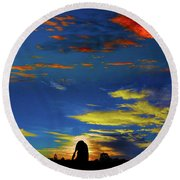 Spellbinding Sunset Round Beach Towel
