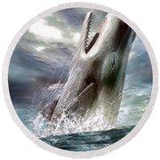 Sperm Whale Round Beach Towel