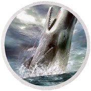Sperm Whale Round Beach Towel