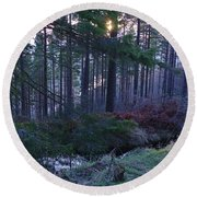 Speyside Woodland Round Beach Towel