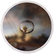 Sphere 13 Rembrandt Round Beach Towel by David Bridburg