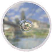 Sphere 18 Sisley Round Beach Towel by David Bridburg