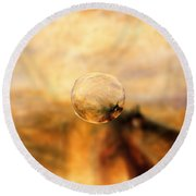 Sphere 8 Turner Round Beach Towel by David Bridburg