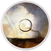 Sphere I Turner Round Beach Towel by David Bridburg