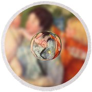 Sphere II Cassatt Round Beach Towel by David Bridburg