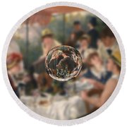 Sphere 4 Renoir Round Beach Towel by David Bridburg