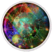 Sphere Of The Unknown Round Beach Towel