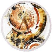 Round Beach Towel featuring the painting Sphere Series 1020.050112 by Kris Haas