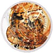 Round Beach Towel featuring the painting Sphere Series 1021.050212 by Kris Haas