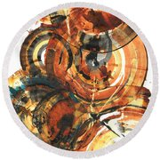 Round Beach Towel featuring the painting Sphere Series 1022.050212 by Kris Haas