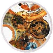 Round Beach Towel featuring the painting Sphere Series 1024.050312 by Kris Haas