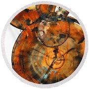 Round Beach Towel featuring the painting Sphere Series 1027.050412 by Kris Haas