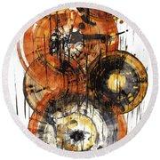 Round Beach Towel featuring the painting Sphere Series 1028.050412 by Kris Haas