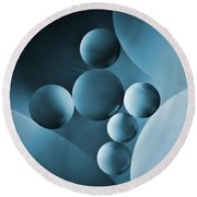 Spheres Round Beach Towel