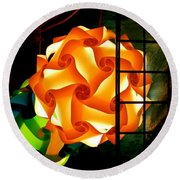 Spheres Of Light Electrified Round Beach Towel