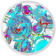 Spheres Series 1511.021413invfddfs-sc-2 Round Beach Towel