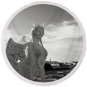 Sphinx- By Linda Woods Round Beach Towel