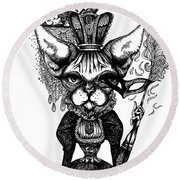 Sphynx Queen Round Beach Towel