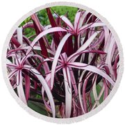 Spider Lily Round Beach Towel