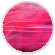 Round Beach Towel featuring the photograph Spider Lily Bottom by Cheryl McClure