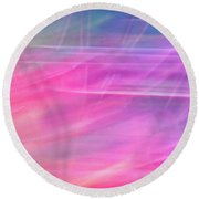 Round Beach Towel featuring the photograph Spider Lily Top by Cheryl McClure