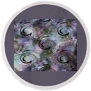Spin And Platter Round Beach Towel