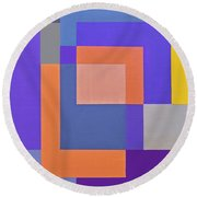 Spring 3 Abstract Composition Round Beach Towel
