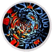 Spinning Around Round Beach Towel