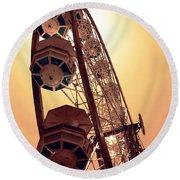 Spinning Like A Ferris Wheel Round Beach Towel