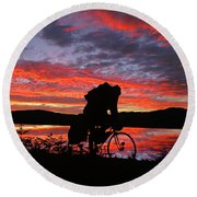 Spinning The Wheels Of Fortune Round Beach Towel