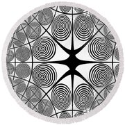Spiral Abstract 7 Colour Choice Round Beach Towel