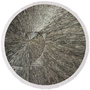 Spiral Confusion Round Beach Towel