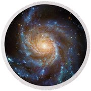 Round Beach Towel featuring the photograph Spiral Galaxy M101 by Paul W Faust - Impressions of Light