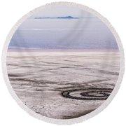 Spiral Jetty - Great Salt Lake - Utah Round Beach Towel by Gary Whitton