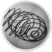 Spiral Shape And Form Round Beach Towel