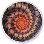 Round Beach Towel featuring the digital art Spiral Shell by Anastasiya Malakhova