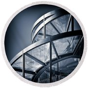 Spiral Staircase Round Beach Towel by Dave Bowman