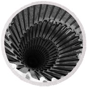 Spiral Staircase In Lublijana Round Beach Towel