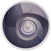 Spiral Staircase In Plum Tones Round Beach Towel by Jaroslaw Blaminsky