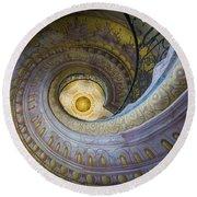 Spiral Staircase Melk Abbey I Round Beach Towel