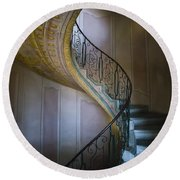Spiral Staircase Melk Abbey II Round Beach Towel